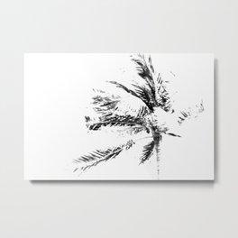 Palm Tree Sketch Metal Print
