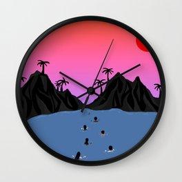 Swim Together Wall Clock