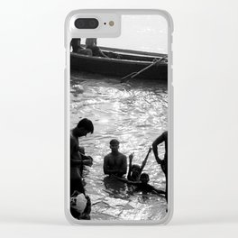 In morning of Ganges river Clear iPhone Case