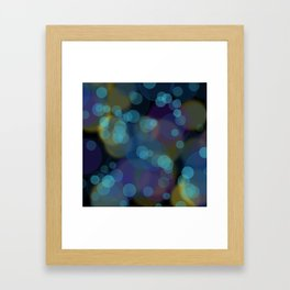 Pacific night bubbles Framed Art Print