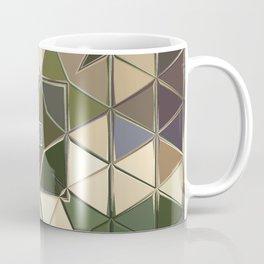 brown green sqaure Coffee Mug