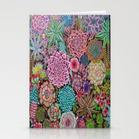 succulents Stationery Cards featuring Succulents by gwolly