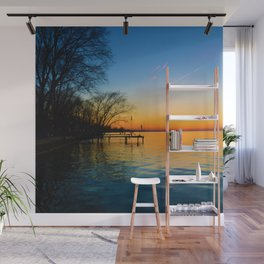 Sunset on Lake St.Clair as seen from Belle River Ontario, Canada Wall Mural