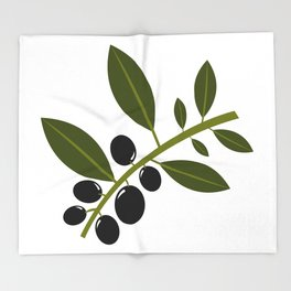 olives Throw Blanket