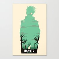 naruto Canvas Prints featuring Naruto Shippuden by GIOdesign