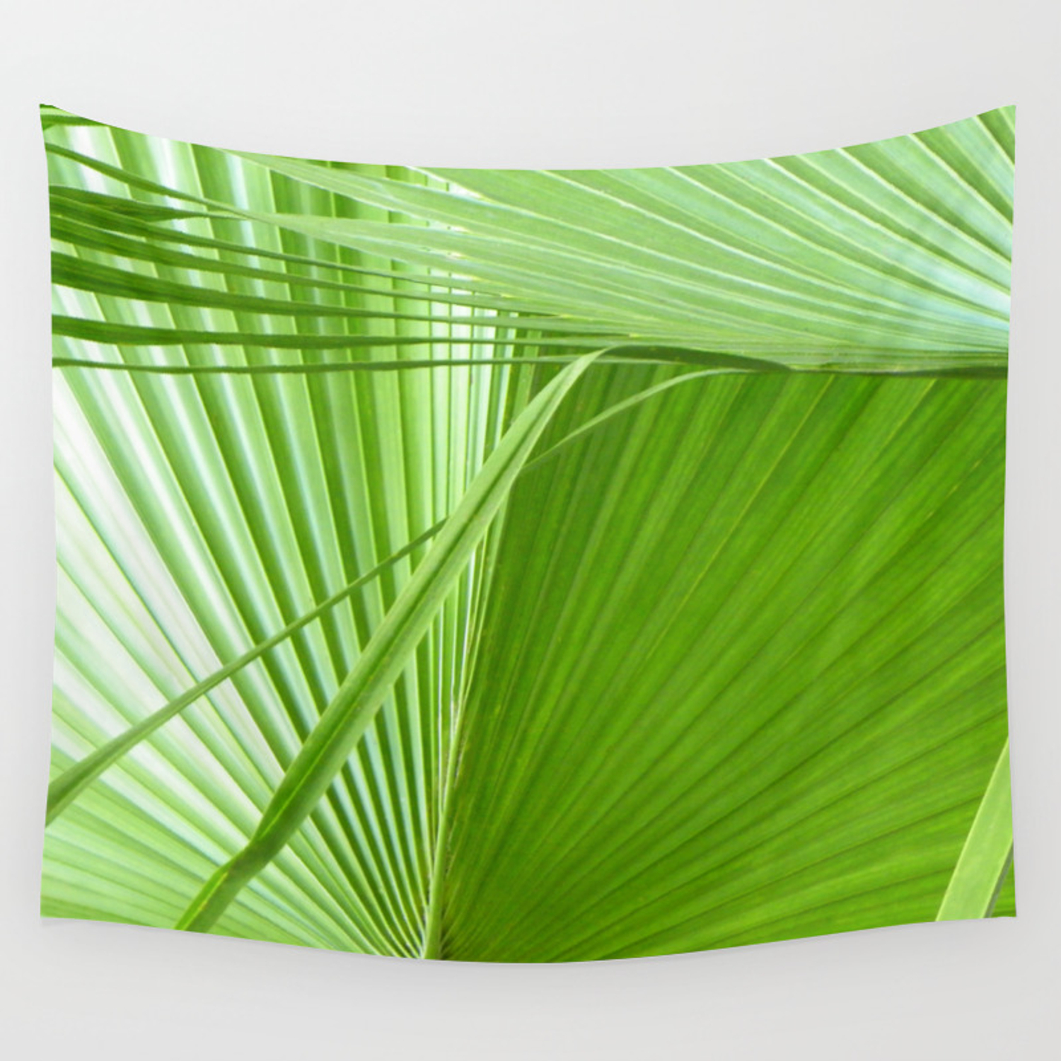 Palm Leaves Tropical Wall Art Beach Cottage Decor Coastal Art Wall Tapestry By Seatheforest Society6