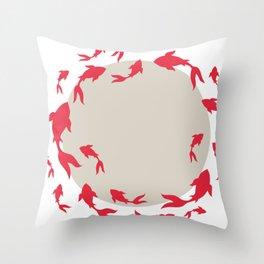 Koi-koi fish Throw Pillow