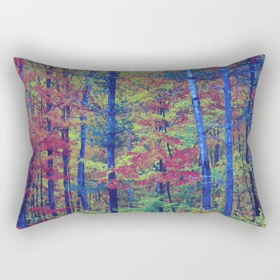 Forest - with exaggerated colors Rectangular Pillow