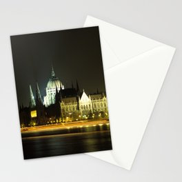Budapest at night Stationery Cards