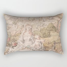 Albrecht Durer - Mary Among A Multitude Of Animals 1503 Rectangular Pillow