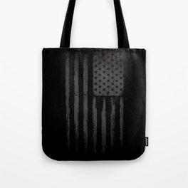Grey American flag Tote Bag