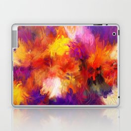 Composition #58 (purple, yellow and red) Laptop & iPad Skin