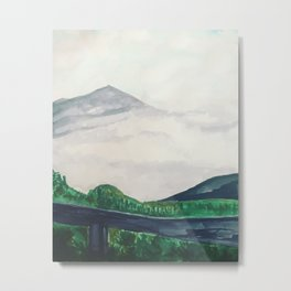 Clouds rolling in on Pichincha Metal Print