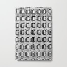 Holes In A Wall Metal Print
