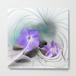 flower design -8- Metal Print