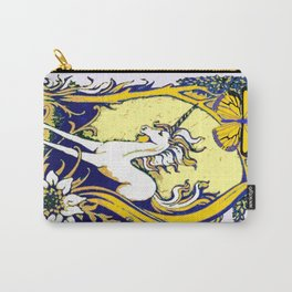 Unicorn Butterfly Woodland Landscape Carry-All Pouch