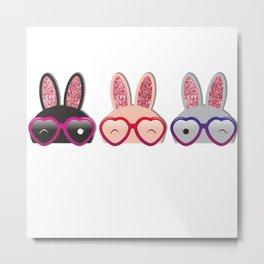 Love Bunnies Metal Print