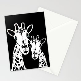 Giraffes Imprint Stamp Stationery Cards