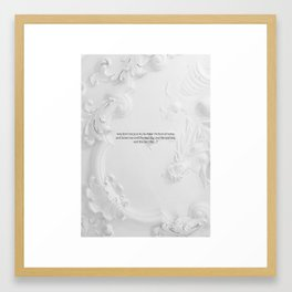 The next day and the next day Framed Art Print