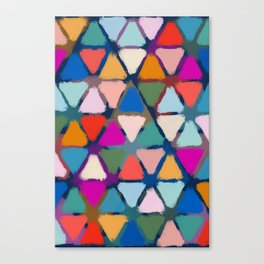 All the triangles Canvas Print