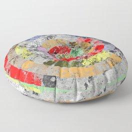 Textured Bullseye - Abstract, marble, pastel colours Floor Pillow