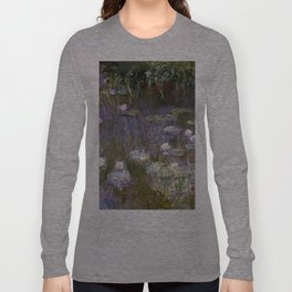 1920-Claude Monet-Water Lilies-200 x 213 Long Sleeve T-shirt