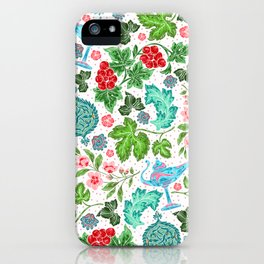Asian Lucky Floral Pattern With Magical Lanterns iPhone Case