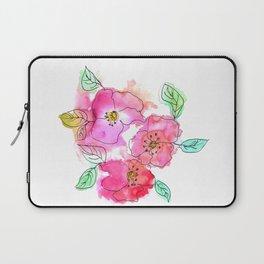 Pink Watercolor Flowers // Floral Feelings Laptop Sleeve