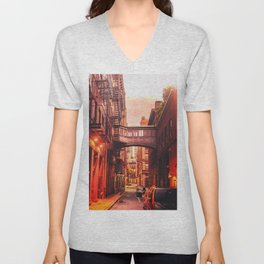 New York City Alley Unisex V-Neck