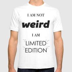 I am not weird Mens Fitted Tee White MEDIUM