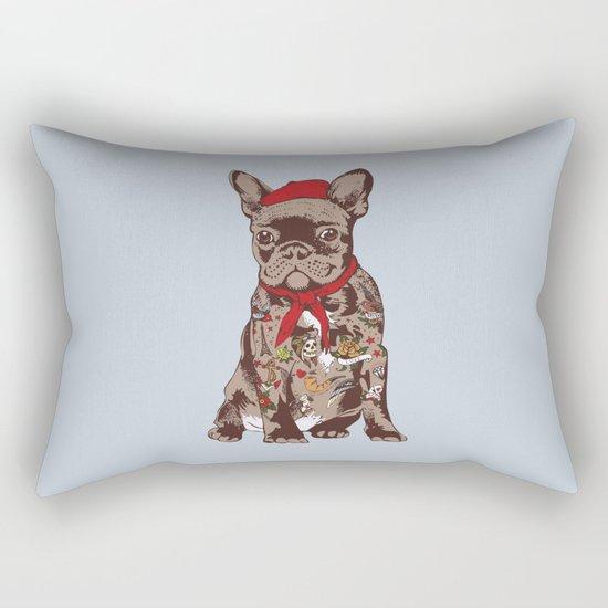 French Bulldog Tattoo Rectangular Pillow