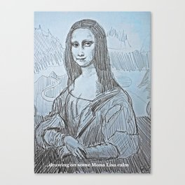 Mona Lisa Calm (artdoodle) Canvas Print
