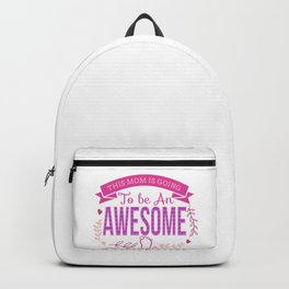 This Mom is Going To Be An Awesome Grandma print Backpack