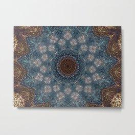 Shibori Blue Metal Print