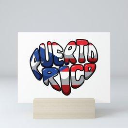 Puerto Rico Heart - Boricua Love Mini Art Print
