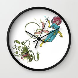 Terror from deep space! Wall Clock