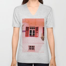 From my red window. Unisex V-Neck