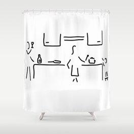 cook kitchen child Shower Curtain