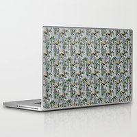 tits Laptop & iPad Skins featuring Crested Tits by LindaWinegum