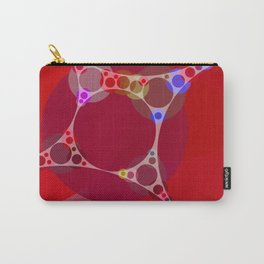 chantal - bright pink abstract design with red white and blue Carry-All Pouch