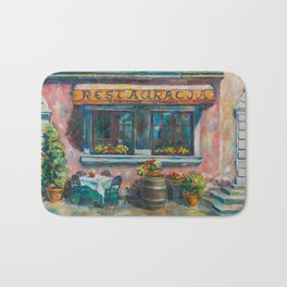 Stone Stairs Restaurant Bath Mat