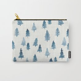 Watercolor Trees Carry-All Pouch