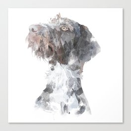 German Wirehaired Pointer Watercolour Canvas Print