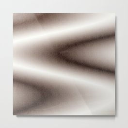 Brown and white gradient Metal Print