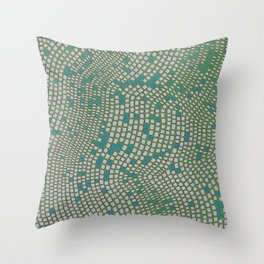 Mosaic- moss green Throw Pillow