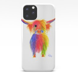 Scottish Highland Cow ' TOTTIE ' by Shirley MacArthur iPhone Case