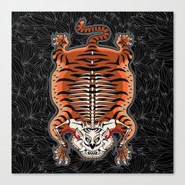 TIBETAN TIGER - SKELETON (black) Canvas Print
