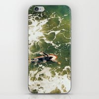 surfer iPhone & iPod Skins featuring Surfer  by Ed Pulella