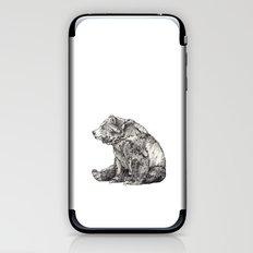 Bear // Graphite iPhone & iPod Skin