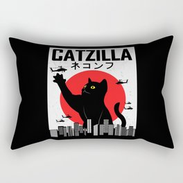 CATZILLA Cat Kitty Japan Vintage Gift Rectangular Pillow